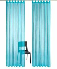 MY HOME Gardine Cluny (2 Stück) blau 1 (H/B: 145/140 cm),2 (H/B: 175/140 cm),3 (H/B: 225/140 cm),4 (H/B: 245/140 cm),5 (H/B: 265/140 cm),6 (H/B: 295/140 cm)