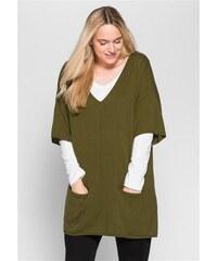 SHEEGO CASUAL Damen Casual Oversize-Pullover mit Taschen grün 40/42,44/46,48/50,52/54,56/58