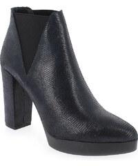 Boots Femme Reqins en Cuir Bleu