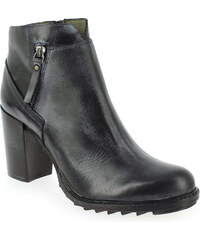 Boots Femme Life en Cuir Gris