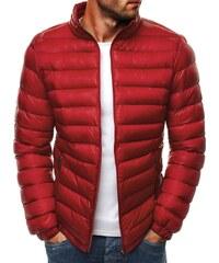 Červená prošívaná stylová pánská bunda J.STYLE 3083