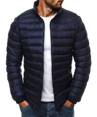Stylová tmavě modrá pánská bunda J.STYLE 3083