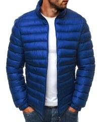 Prošívaná modrá stylová bunda J.STYLE 3083