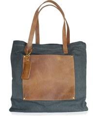 Kožená vintage maxi taška O My Bag Lou's, velbloudí