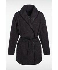 Manteau femme col châle fine ceinture Gris Acrylique - Femme Taille L - Bonobo