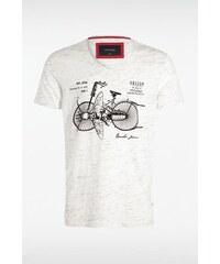 T-shirt homme motifs vélo et insecte Blanc Coton - Homme Taille L - Bonobo