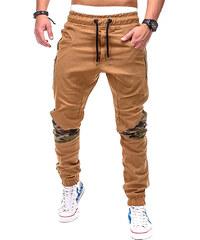 Lesara Joggerpants mit Camouflage-Details - Camel - XXL