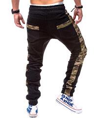 Lesara Joggerpants mit Camouflage-Details - Schwarz - S
