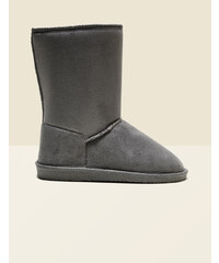 bottes fourrées hautes grises Jennyfer