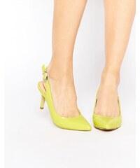 Ravel - Spitze Schuhe mit Fersenriemen und mittelhohem Absatz - Grün