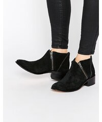 Hudson London H By Hudson - Bottines en daim zippées - Noir