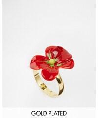 Les Nereides - Ring mit Blumendesign - Rot