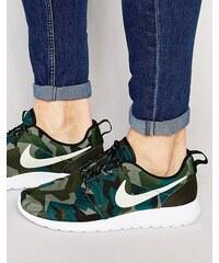 Nike - Roshe One 655206-300 - Baskets imprimées - Vert - Vert