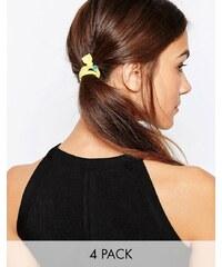 Kat&Bee Kat & George - Haarband mit Ringen mit herzförmigen Perlen im Viererpack - Mehrfarbig