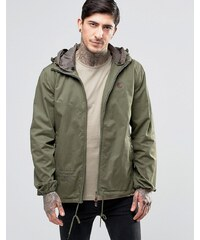 Pretty Green - Jacke in Khaki mit Kapuze - Grün