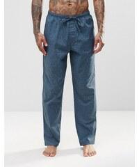 Calvin Klein - Pantalon confort coupe classique en tissu - Bleu