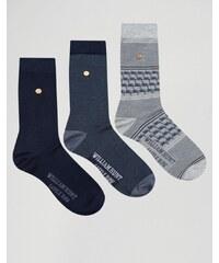 William Hunt - Lot de 3 paires de chaussettes - Noir