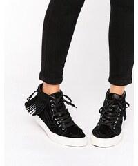 Vans - Sk8-Hi - Baskets montantes à franges effet mocassins - Noir - Noir