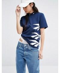 Reebok - Classics - T-shirt à col haut et imprimé vector - Bleu marine - Bleu