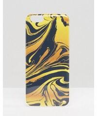 Signature - iPhone 6-Hülle mit marmoriertem Ink-Print - Blau