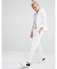 Puma - Pantalon de survêtement à logo - Doré - Blanc