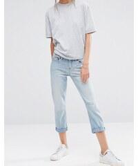 Ditto's - Rhona - Kurz geschnittene Jeans mit mittelhohem Bund - Blau