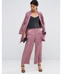 ASOS - Hosenrock mit weitem Beinschnitt und sanftem Print - Rosa