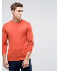 United Colors of Benetton - Pull ras du cou en viscose mélangée - Orange