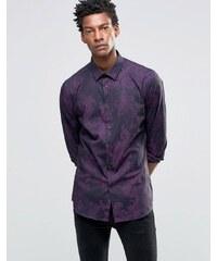 Devils Advocate Devil's Advocate - Chemise ajustée habillée à imprimé - Violet