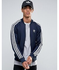 adidas Originals - Superstar - Trainingsjacke mit Markenkleeblatt, AY7061 - Blau