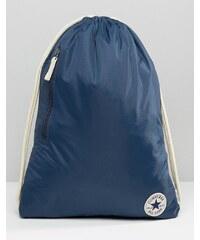 Converse - Sac à dos avec logo à cordon de serrage - Bleu marine