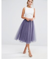 Little Mistress - Jupe mi-longue en tulle - Gris