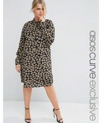 ASOS Curve - Robe chemise à imprimé animal - Multi