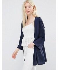 Vila - Kimono avec épaules lacées - Bleu marine - Bleu marine