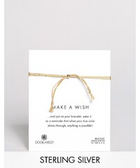 Dogeared - Make A Wish - Bracelet multi-rangs ajustable en soie - Doré - Doré