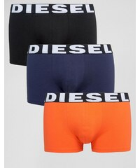 Diesel - Lot de 3 boxers avec logo à la taille - Multi