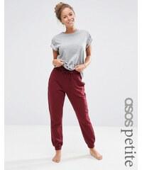 ASOS PETITE - Pantalon de survêtement léger avec lien contrasté - Rouge