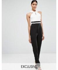 Vesper - Taillierter Overall mit gedrehtem Ausschnitt - Mehrfarbig
