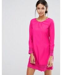 Uttam Boutique - Robe droite à manches longues avec détail au crochet - Rose