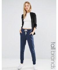 Vero Moda Tall - Pantalon de jogging contrasté et noué - Bleu marine