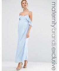 Queen Bee - Robe longue aux épaules dénudées - Bleu