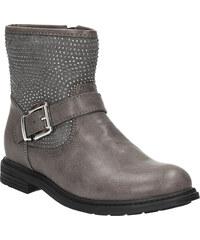 MINI B Dětská kotníčková obuv s kamínky