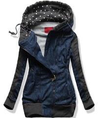 Sweatjacke dunkel blau D269 Jeans Motiv