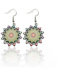 Náušnice hvězdičky etno styl s ornamenty