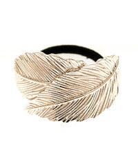 Vlasová gumička s kovovou sponou listy