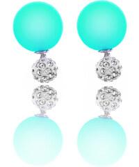 Náušnice pusety Crystal Color s krystalky barevné