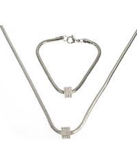 Sada náramek a náhrdelník chirurgická ocel kostka SD0083-12