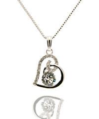 Přívěsek s řetízkem srdce s velkým krystalem PK0432-0212