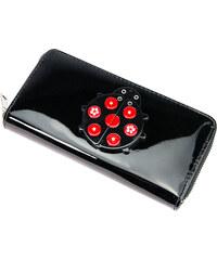 Dámská peněženka MAI MAX Black & RED lakovaná s zrcátkem