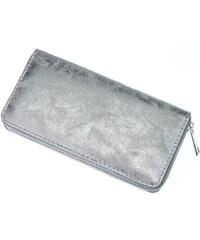 Dámská peněženka v metalické barvě